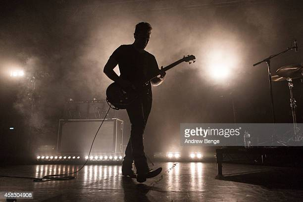 Mike Kerr of Royal Blood performs on stage at The Ritz Manchester on November 2 2014 in Manchester United Kingdom