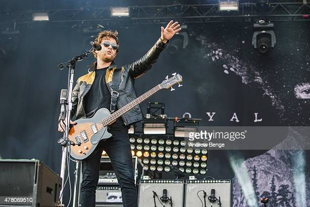 Mike Kerr of Royal Blood performs on the main stage for Best Kept Secret Festival at Beekse Bergen on June 21 2015 in Hilvarenbeek Netherlands
