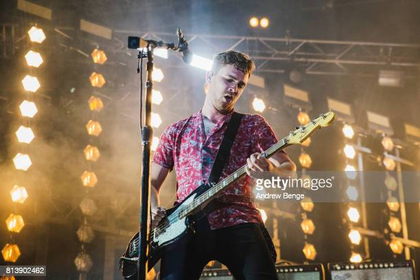 Mike Kerr of Royal Blood performs on the stage during day 1 of NOS Alive on July 6 2017 in Lisbon Portugal