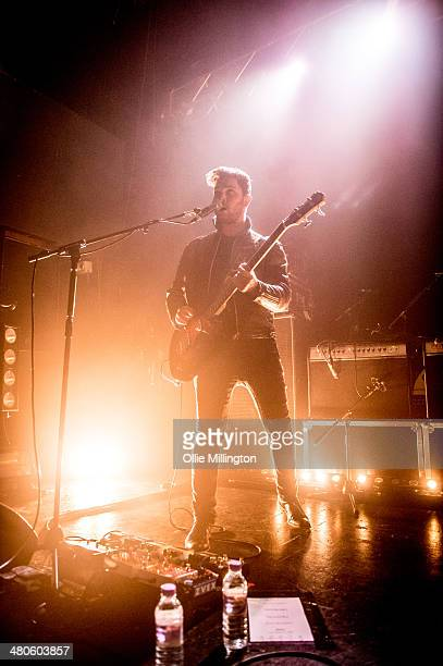 Mike Kerr of Royal Blood performs onstage at the NME Awards Tour Show at The Institute on March 25 2014 in Birmingham England