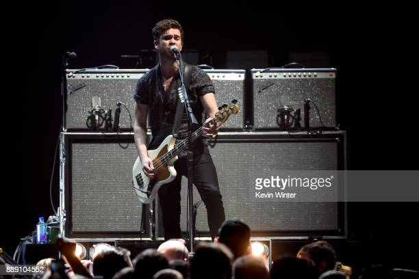 Mike Kerr of Royal Blood performs onstage during KROQ Almost Acoustic Christmas 2017 at The Forum on December 9 2017 in Inglewood California