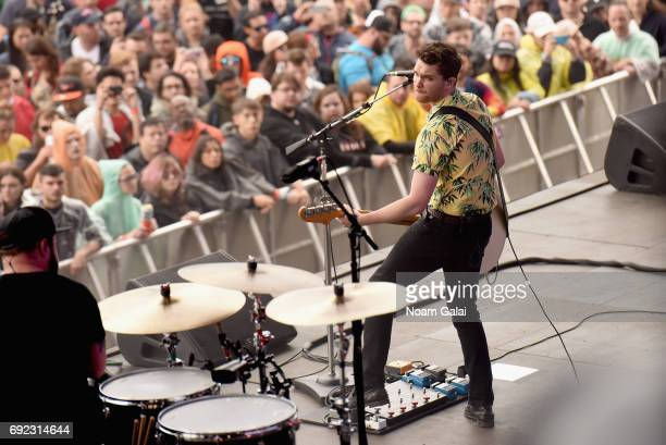 Mike Kerr of Royal Blood performs onstage during the 2017 Governors Ball Music Festival Day 3 at Randall's Island on June 4 2017 in New York City