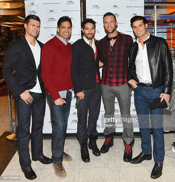 Mike Keute Sandy Dias Shane Duffy Gage Cass and Donny Ware attend the Built cast meet greet at NBC Experience Store on February 14 2013 in New York...