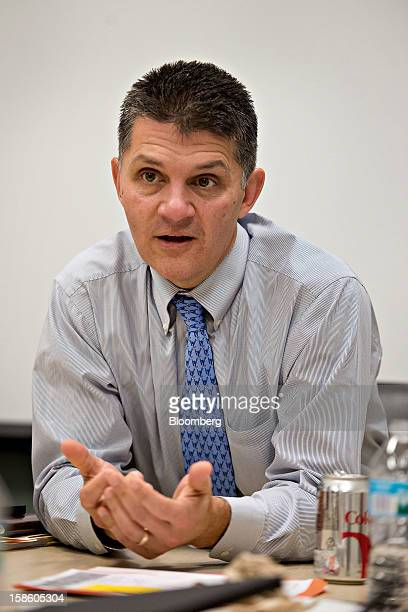 Mike Kobida executive director of collateral services for the CME Group Inc's Chicago Board of Trade speaks during an interview in Chicago Illinois...
