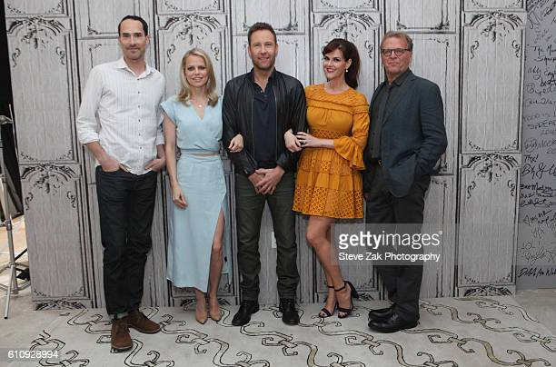 Mike Kosinski Mircea Monroe Michael Rosenbaum Sara Rue and David Rasche attend Build Series to discuss mpastor' at AOL HQ on September 28 2016 in New...