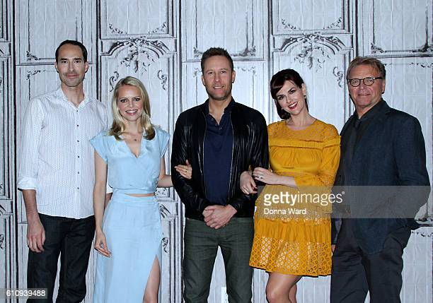 Mike Kosinski Mircea Monroe Michael Rosenbaum Sara Rue and David Rasche appear to promote 'Impastor' during the AOL BUILD Series at AOL HQ on...