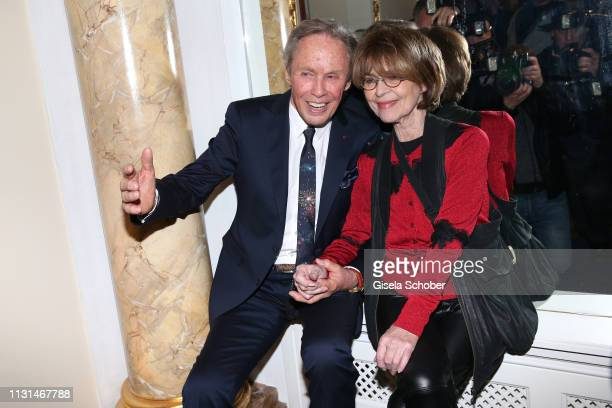 Mike Kraus and Cornelia Conny Froboess during the celebration of Peter Kraus' 80th birthday at Schuhbecks Suedtiroler Stuben on March 18 2019 in...