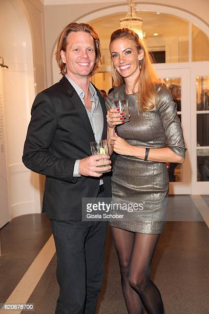 Mike Kraus and his wife Coco Constanze Kraus during the Swarovski World Jewelry Facets exhibition at Villa Wagner on November 2 2016 in Munich Germany