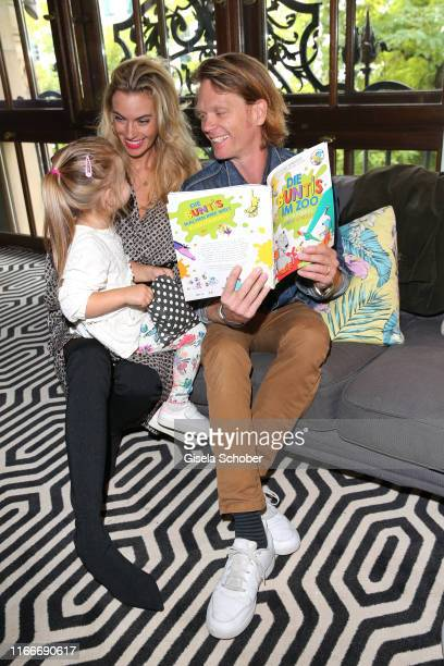 "Mike Kraus and his wife Constanze ""Coco"" Kraus and their daughter Josephin Lotte during the book launch and reading of ""Die Buntis im Zoo"" at Heart..."