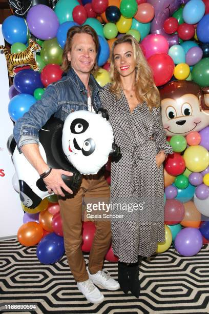 Mike Kraus and his wife Constanze Coco Kraus during the book launch and reading of Die Buntis im Zoo at Heart House on September 7 2019 in Munich...