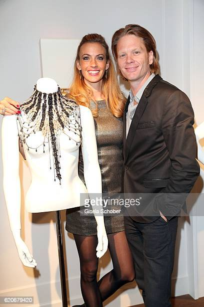 Mike Kraus and his wife Constanze Coco Kraus during the Swarovski World Jewelry Facets exhibition at Villa Wagner on November 2 2016 in Munich Germany