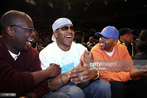 Mike Kysner LL Cool J and Kevin Liles during 2006 Jordan AllAmerican Classic at Madison Square Garden in New York City New York United States