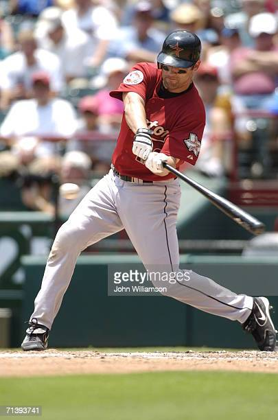 Mike Lamb of the Houston Astros bats during the game against the Texas Rangers at Ameriquest Field in Arlington on July 1 2006 in Arlington Texas The...
