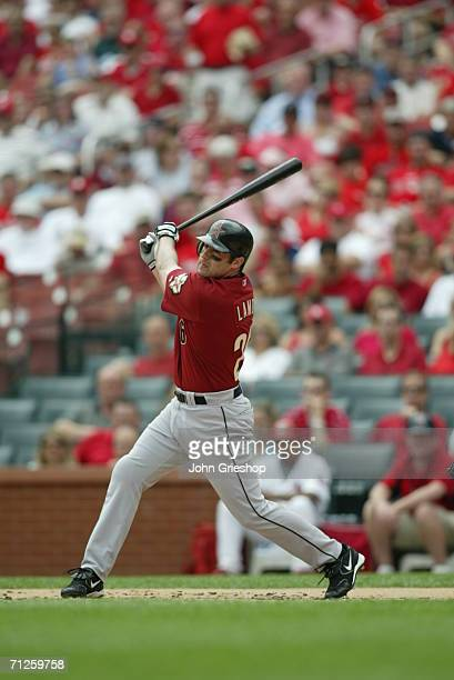 Mike Lamb of the Houston Astros bats during the game against the St Louis Cardinals at Busch Stadium in St Louis Missouri on May 31 2006 The...