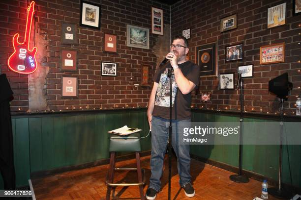 Mike Lawrence hosts 'The Games of Games It's Always Sunny in Philadelphia Trivia' in Paddy's Pub during Clusterfest at Civic Center Plaza and The...