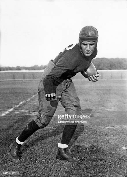 MIke Layden halfback for Notre Dame Notre Dame Indiana November 2 1934 He is the younger brother of Elmer Layden who is not only the coach but was...