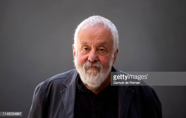 Mike Leigh attends Peterloo Madrid Photocall on April 26 2019 in Madrid Spain