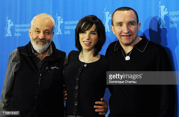 Mike Leigh director and actors Sally Hawkins and Eddie Marsan attend the 'Happy Go Lucky' photocall during day six of the 58th Berlinale...