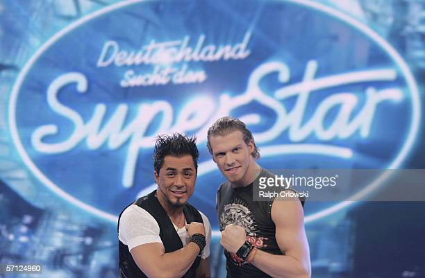 Mike Leon Grosch and Tobias Regner finalists of German singer qualifying contest 'Deutschland sucht den Superstar' that means 'Germany searches the...