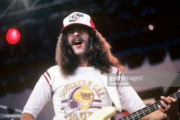 Mike Levine performing with Triumph at the US Festival at Glen Helen Regional Park in San Bernardino CA on May 291983