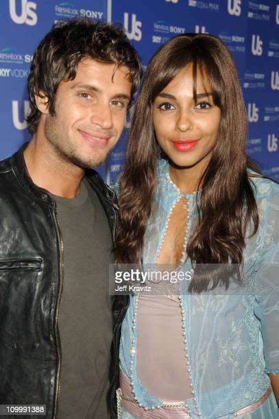 Mike Lombardi and Marsha Thomason during US Weekly's Hot Hollywood Fresh 15 Red Carpet and Arrivals at Area in West Hollywood California United States