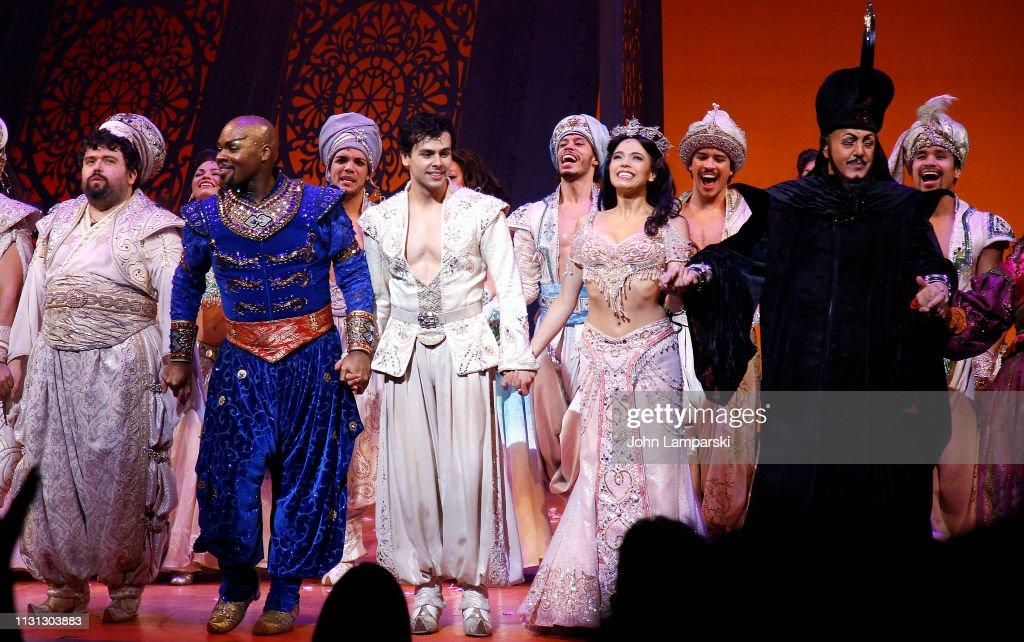 """NY: """"Aladdin"""" Broadway Curtain Call"""
