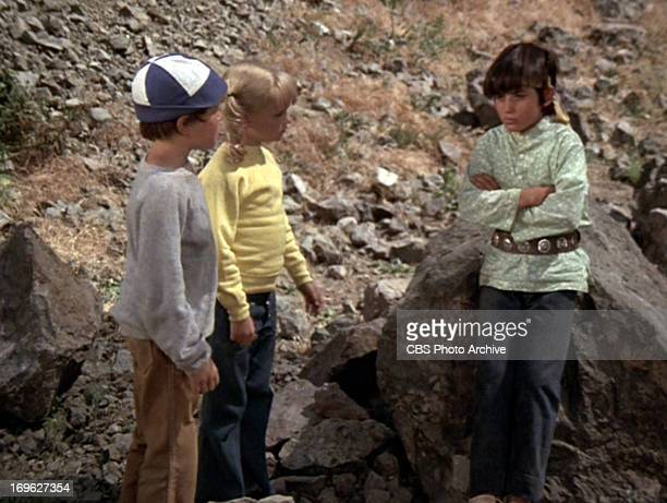 Mike Lookinland as Bobby Brady Susan Olsen as Cindy Brady and Michele Campo as Jimmy in THE BRADY BUNCH episode The Brady Braves Original air date...