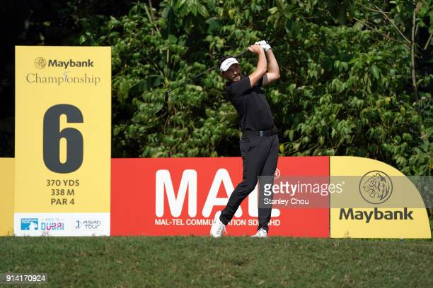 Mike Lorenzo Vera of France in action during day four of the Maybank Championship Malaysia at Saujana Golf and Country Club on February 4 2018 in...
