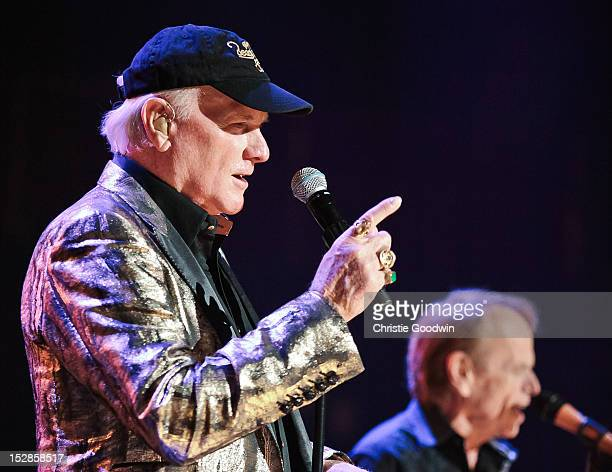 Mike Love and Al Jardine of The Beach Boys perform on stage as part of the 50th Anniversary tour at Royal Albert Hall on September 27 2012 in London...