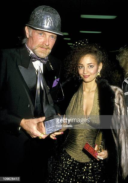 Mike Love and Girlfriend during 15th Annual American Music Awards - After Party at Chasen's Restaurant in Beverly Hills, California, United States.