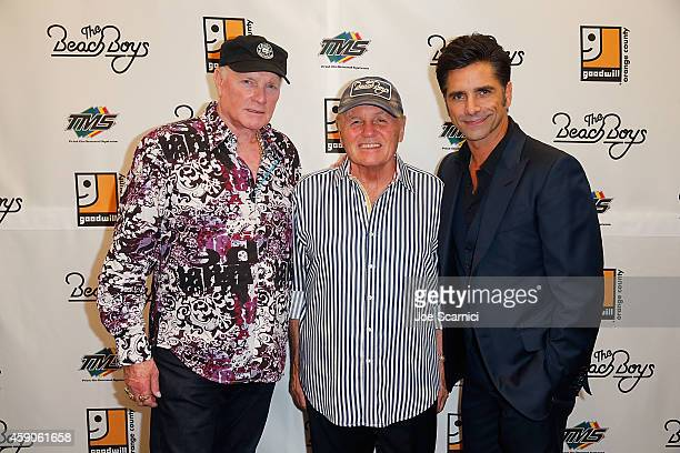 Mike Love Bruce Johnston and John Stamos attend the Goodwill of Orange County Gala with John Stamos and The Beach Boys at Laguna Cliffs Marriott on...