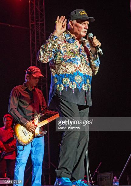 Mike Love leads the Beach Boys in tonight's concert on the stage of the Nex-Tech Wireless Arena at the Kansas State Fair. Hutchinson Kansas, USA,...