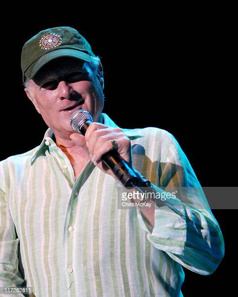 Mike Love of the Beach Boys during Beach Boys in Concert at Chastain Park - July 26, 2006 at Chastain Park in Atlanta, Georgia, United States.