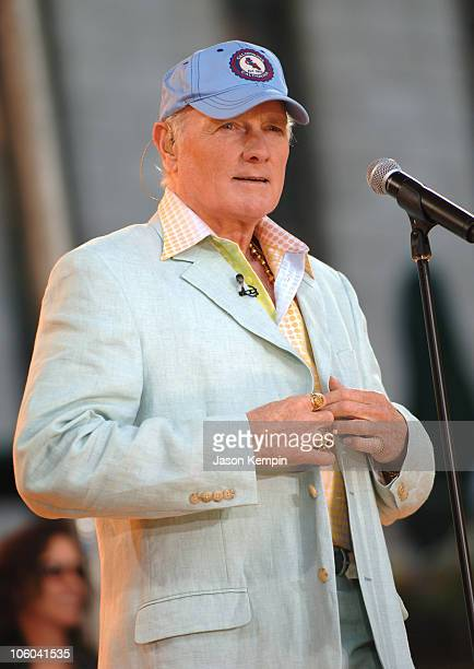 Mike Love of the Beach Boys during The Beach Boys Perform on ABC's 'Good Morning America' July 7 2006 at Bryant Park in New York City New York United...