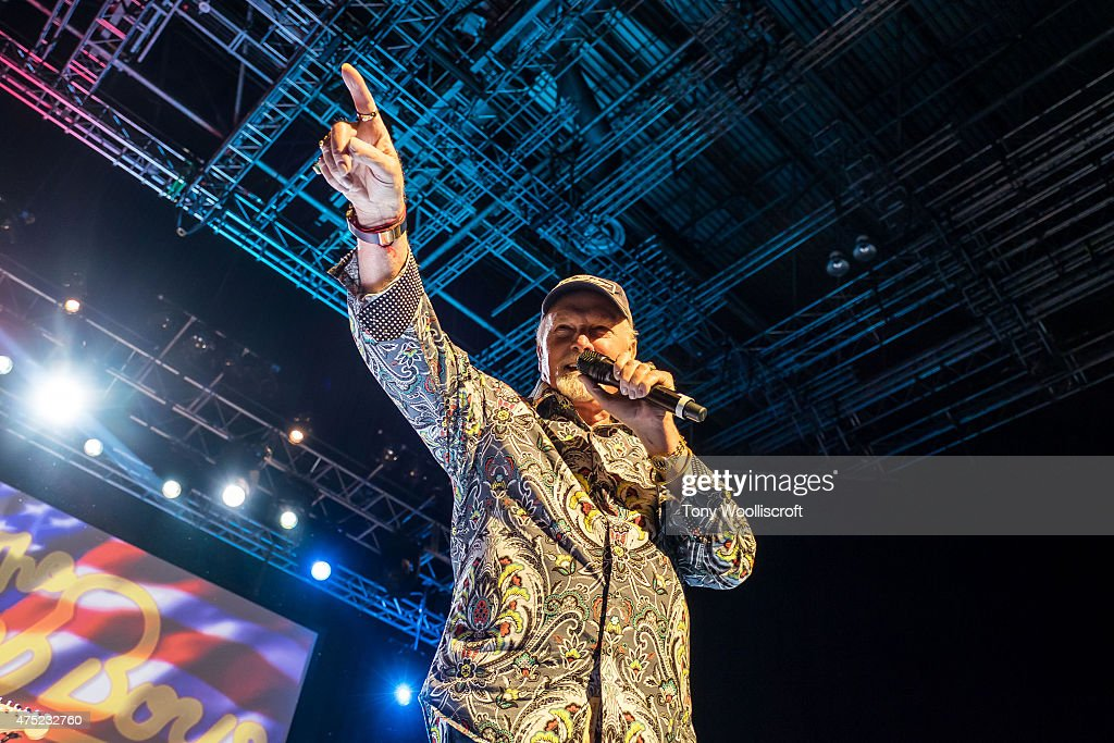 Mike Love of the Beach Boys performs at Barclaycard Arena on May 29, 2015 in Birmingham, England.