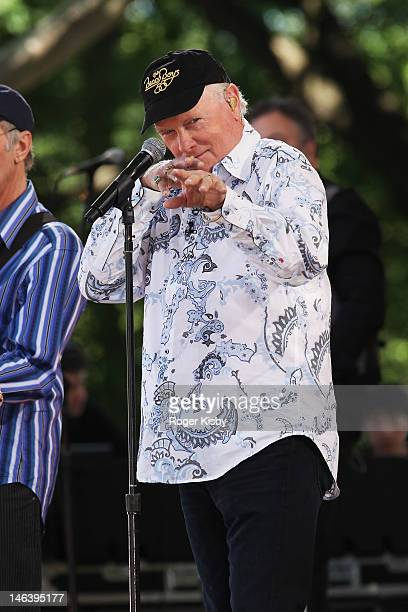 """Mike Love of The Beach Boys performs on ABC's """"Good Morning America"""" at Rumsey Playfield, Central Park on June 15, 2012 in New York City."""