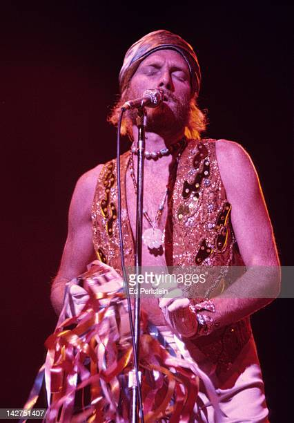 Mike Love performs with The Beach Boys at the Oakland Coliseum Arena on December 15, 1976 in Oakland, California.