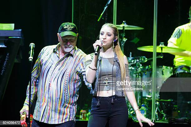 Mike Love's Daughter Ambha performs with The Beach Boys in concert at ACL Live on January 19 2014 in Austin Texas