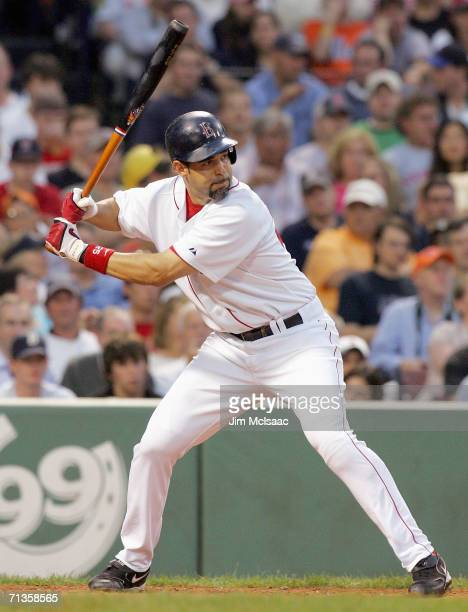 Mike Lowell of the Boston Red Sox bats against the New York Mets on June 29 2006 at Fenway Park in Boston Massachusetts