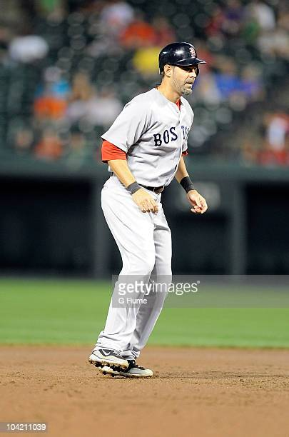 Mike Lowell of the Boston Red Sox runs the bases against the Baltimore Orioles at Camden Yards on September 2 2010 in Baltimore Maryland The Red Sox...