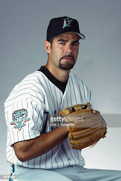 Mike Lowell of the Florida Marlins during picture day at Spring Training on February 22 2003 at Roger Dean Stadium in Jupiter Florida