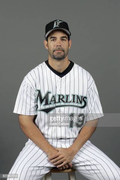 Mike Lowell of the Florida Marlins poses for a portrait during photo day at Roger Dean Stadium on February 26 2005 in Jupiter Florida