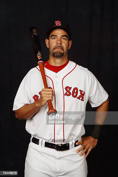 Mike Lowell poses for a portrait during the Boston Red Sox Photo Day at the Red Sox spring training complex on February 24 2007 in Fort Myers Florida
