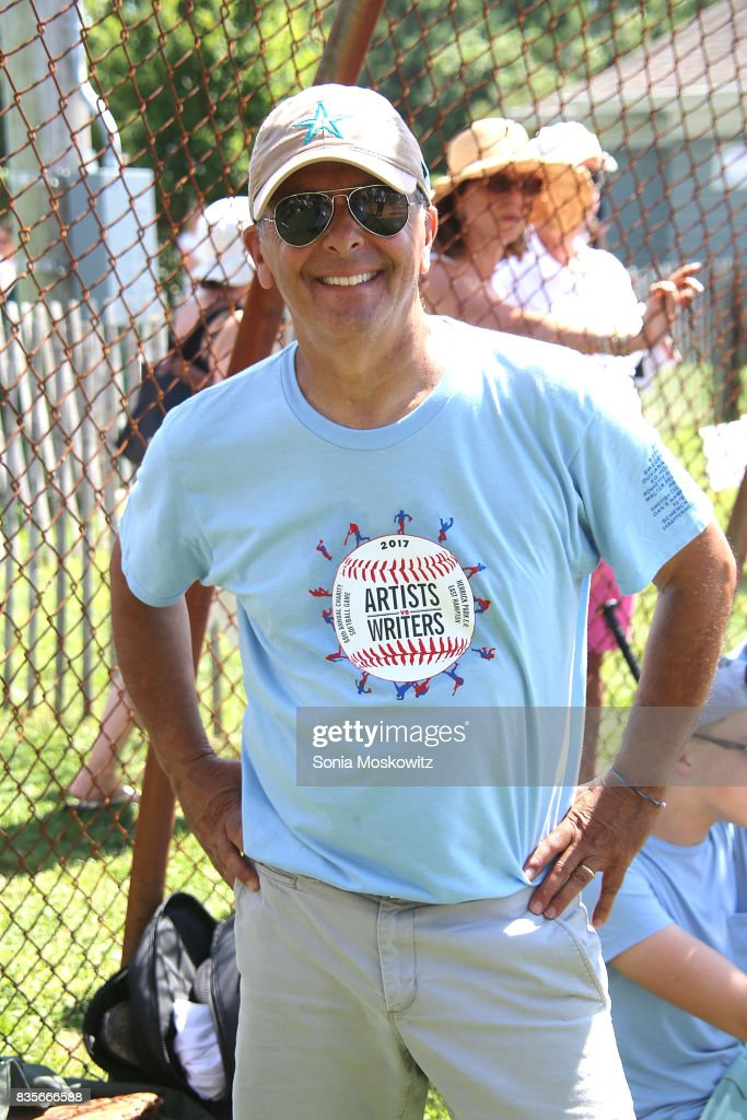 Mike Lupica attends the 69th Annual Artists and Writers Softball Game at Herrick Park on August 19, 2017 in East Hampton, New York.