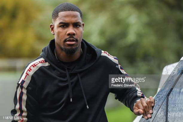 Mike Maignan of France arrives ahead of a training session on November 11 2019 in Clairefontaine France France will play against Moldova in their...