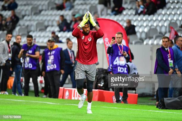 Jonathan Ikone of Lille fires his team 20 ahead during the Ligue 1 match between Lille and Nantes at Stade Pierre Mauroy on September 22 2018 in...