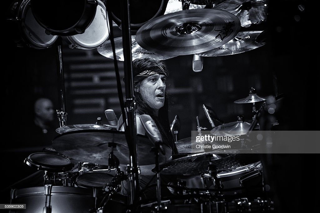 Mike Mangini of Dream Theater performs at Wembley Arena on February 14, 2014 in London, England.
