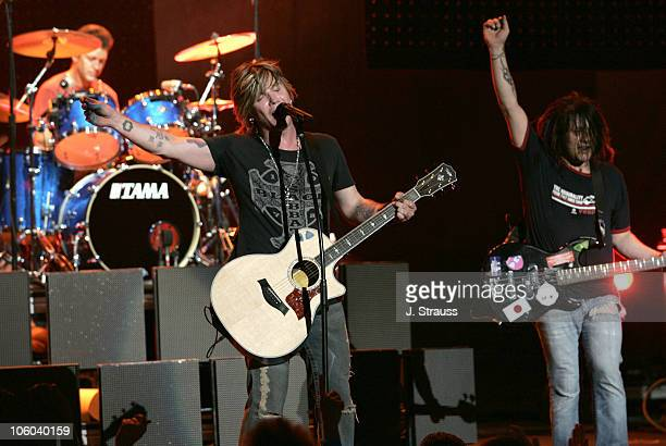 Mike Manlin Johnny Rzeznik and Robby Takac of Goo Goo Dolls