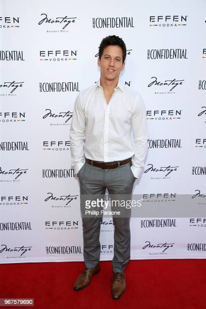 Mike Manning attends the Los Angeles Confidential Celebration for Portraits of Pride with GLAAD and Laverne Cox on June 4 2018 in Beverly Hills...