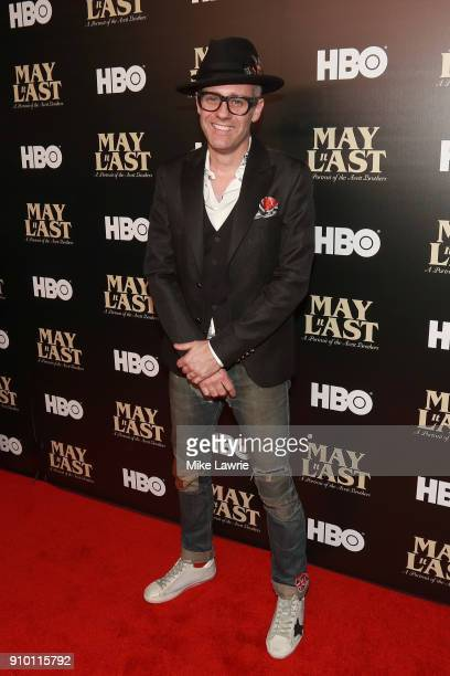 Mike Marsh of the Avett Brothers attends the New York Premiere of 'May It Last A Portrait Of The Avett Brothers' at Florence Gould Hall on January 24...